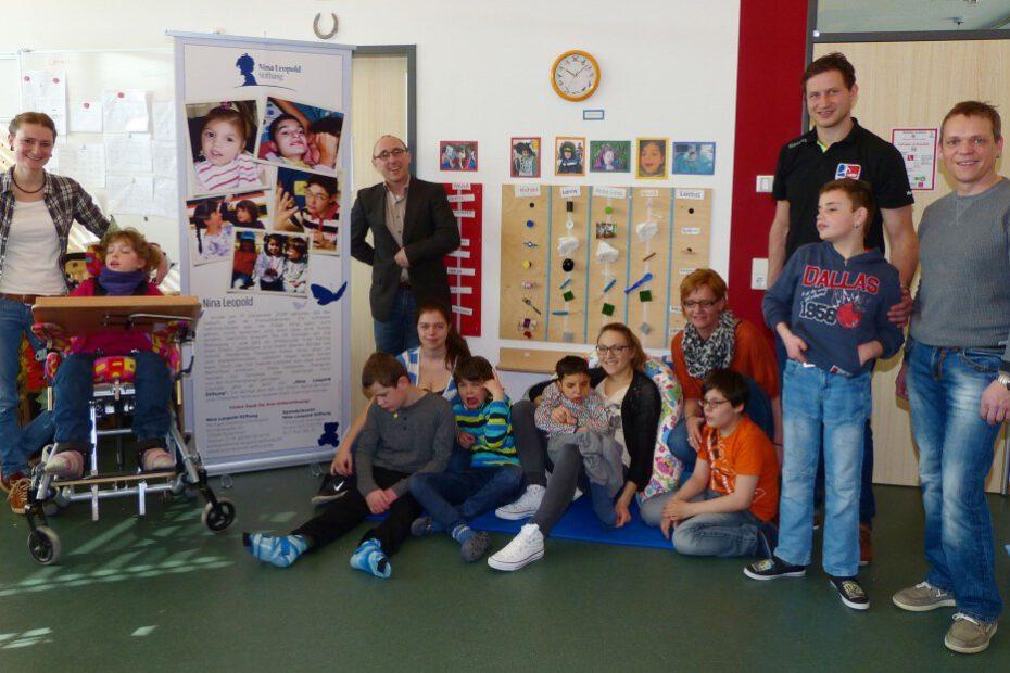 Spendenübergabe Nina-Leopold-Stiftung im Förderzentrum Sehen: