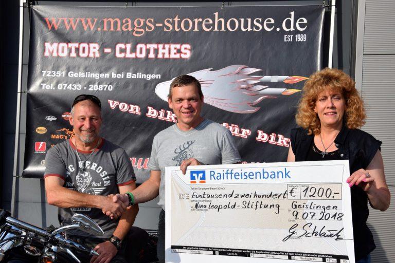Biker spenden für die Nina-Leopold-Stiftung