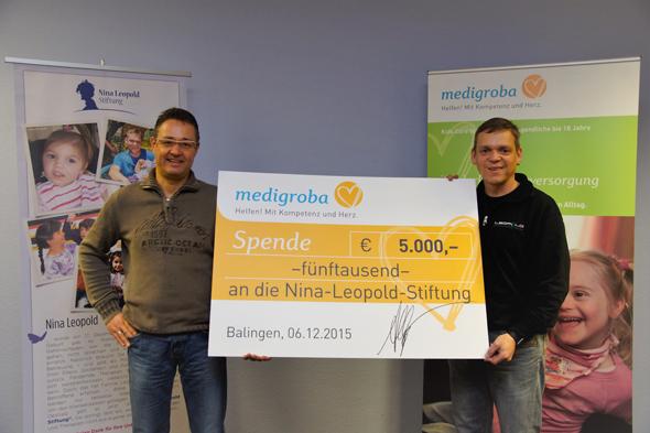 Spendenübergabe Medigroba