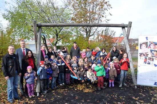Kindergarten Neige – Vogelnestschaukelspende (Quelle: Privat)